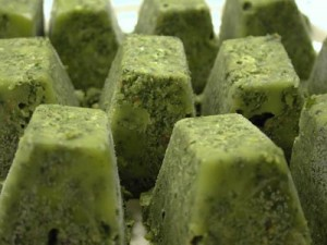 Frozen cubes o' pesto. (NOT made of people)
